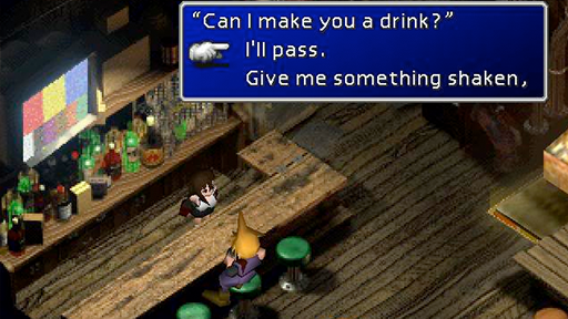 Final Fantasy 7 proximity textbox.