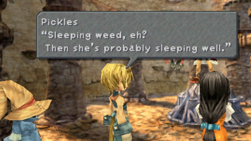 Final Fantasy 9 has a textbox with a tail.