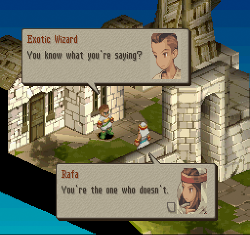 Textboxes from Final Fantasy Tactics.