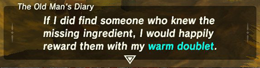 The textbox from Zelda Breath of the Wild.