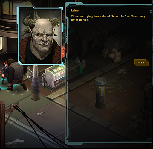 The textbox from Shadowrun.