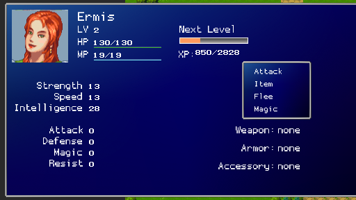 Status Screen using crisp bitmap number fonts.