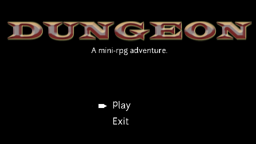 Starting the Dungeon JRRG game.