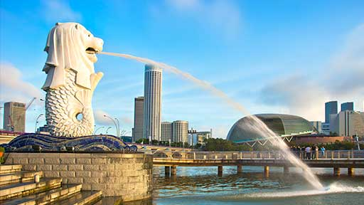 A picture of Merlion.