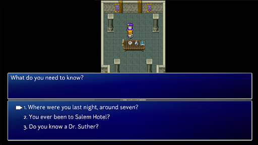 The questions a detective might ask in an RPG.