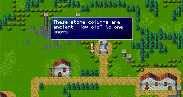 Talk to NPCs in the town.