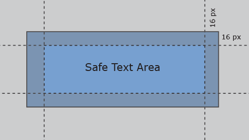 Dialog box shown with padding.