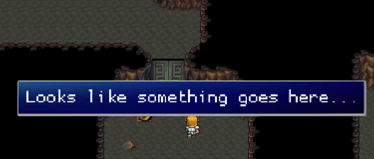 Solving a puzzle in a dark dungeon.
